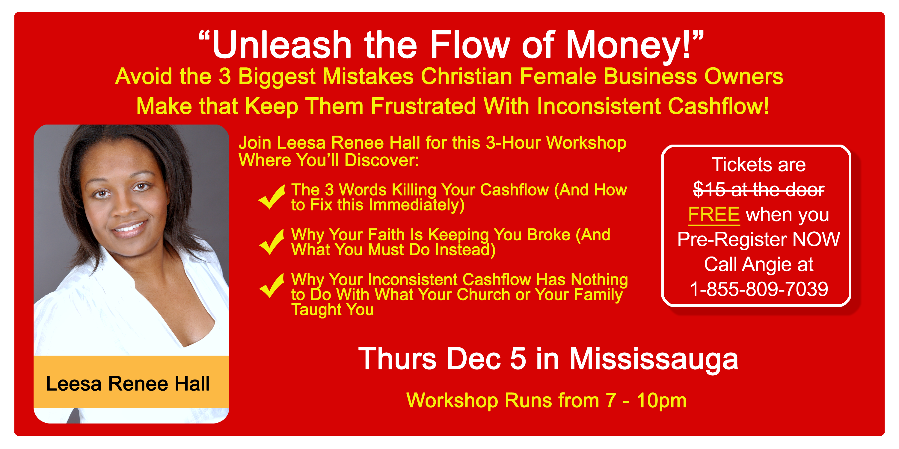 3 Biggest Mistakes Christian Female Business Owners Make That Keep Them Frustrated With Inconsistent Cashflow @ Call toll-free for location | Finland
