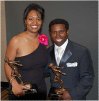 "Mike ""Pinball"" Clemons & I Receiving Our Awards (2009)"