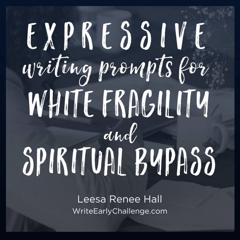 Expressive Writing Prompts to Overcome White Fragility